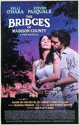 BRIDGES OF MADISON COUNTY Kelli O'Hara, Steven Pasquale + Cast Signed Poster