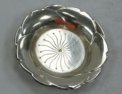 Cute Sterling Silver Candle Dish  A3786