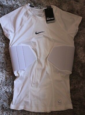 NWT! Nike Pro Hyperstrong PADS Compression Football Shirt WHITE 806900-100 Large