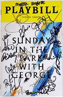 SUNDAY IN THE PARK WITH GEORGE Cast Ashford, Jake Gyllenhaal Signed Playbill