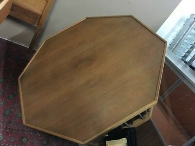Octagon Mid Century CoffeeTable by Drexel  Iron And Wood.