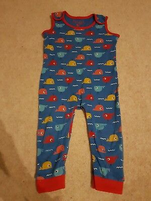 Used Frugi Whale Dungarees size 18-24 months
