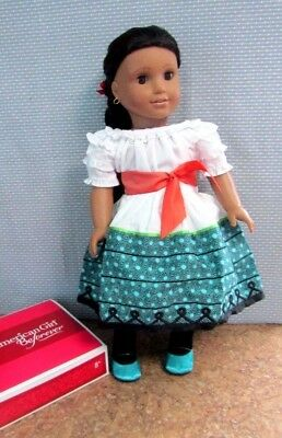 american girl doll josefina wearing a new feast dress box for outfit
