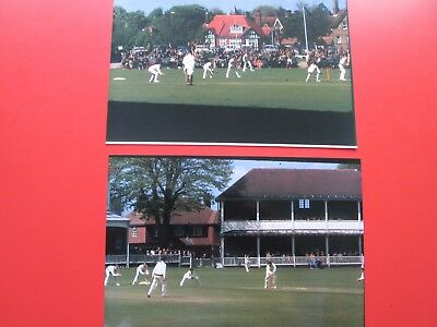 Kent Cricket: 2 Photos. -  Kent v Lancs. at St.Lawrence Ground (May 1968)