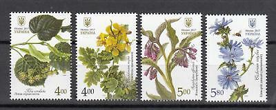 Flowers Ukraine  MNH** 2017 Mi.1630-33 Medical Plants