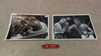 Rocky Marciano Boxing Lot Of (3) Items Two Original Photos & Pocket Knife
