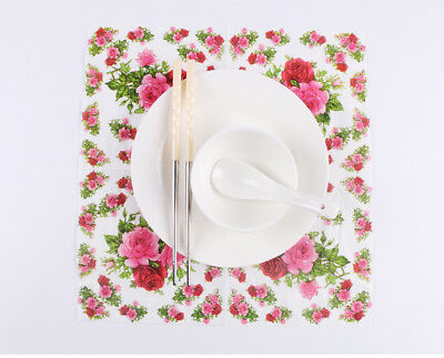 Chinese Style Flower Series Paper Napkin 20 Pcs Of Each Pack 33X33CM Pattern 7