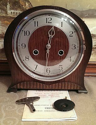"""Smiths Enfield:The """"Bournemouth"""" Model 8-Day Striking Mantel Clock -Serviced&GWO"""