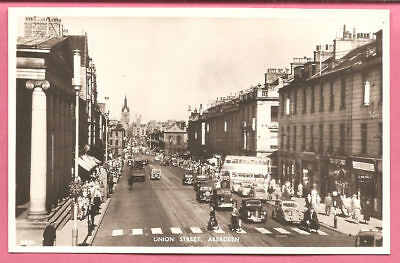 Union Street, Aberdeen, Aberdeenshire, Scotland postcard. Real Photo. J.B. White