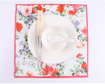 Chinese Style Flower Series Paper Napkin 20 Pcs Of Each Pack 33X33CM Pattern 13