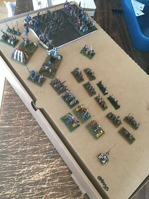 15mm - DPS DBM DBA War Gaming English Medieval Forces (96) Figures Well Detailed