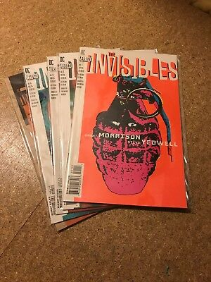 The Invisibles Issues 1-5 by Grant Morrison / Steve Yeowell Vertigo Comics