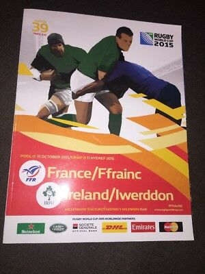 France V Ireland 2015 Rugby World Cup Official Match Programme