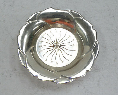 Cute Sterling Silver Candle Dish A3790