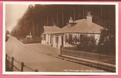 "The ""Pot-Luck"" Tea Rooms Aviemore, Scotland postcard. Real Photo. Ness Series."