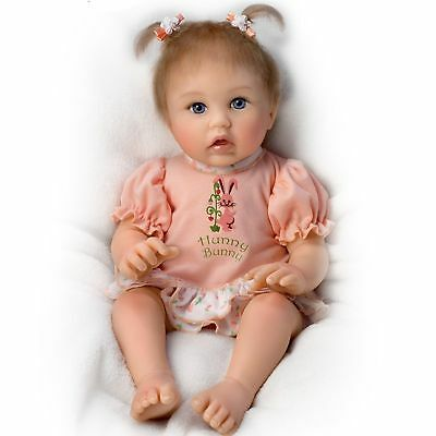 Ashton Drake Little Hunny Bunny Poseable Baby Doll by Cheryl Hill