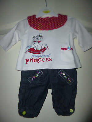 """Disney at George zauberhaftes 2tlg Outfit """"Marie"""" Gr: First Size"""