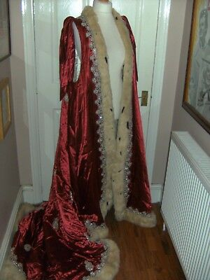 Royal CORONATION ROBE BY THE ROYAL OPERA HOUSE THEATRICAL 'IDOMENEO' COSTUME