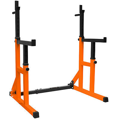 Squat Rack & Dip Stand Barbell/Weight Gym Bench Power/Lifting
