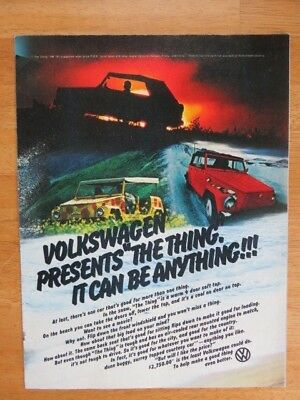 1973 Volkswagen Thing Brochure