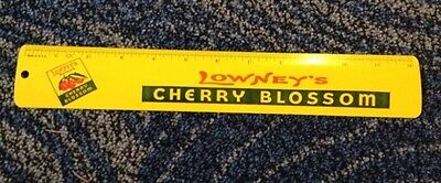 "Lowney's cherry chocolate blossom advertising 12"" ruler  1960s Made in USA"