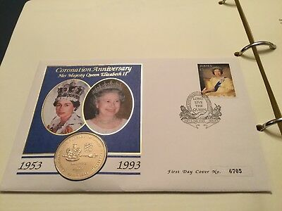 Jersey 40th Anniversary of The Coronation Coin FDC 1953 - 1993 £2.00 Coin