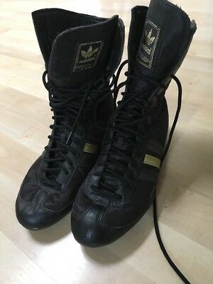 Vintage Adidas Boxing Shoes 044743 Size 7 1/2 Excellent Condition