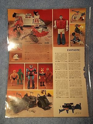 1977 SPEIGEL Christmas catalog page G I Joe SUPER JOE ROCKET COMMAND CENTER *COX