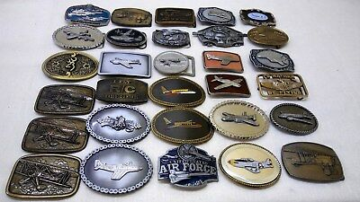"AVIATION PILOT BELT BUCKLE  30pc lot"" AIRPLANES. JETS. FIGHTER PLANES."