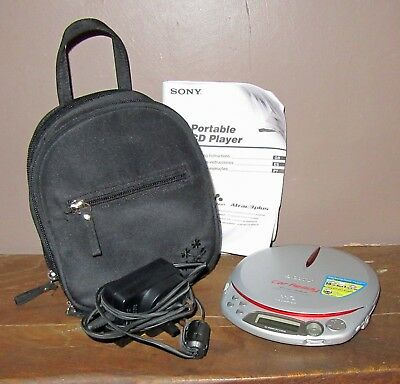 Sony CD Walkman CD-R/RW MP3 D-NE518CK with Carry Case & Manual PAT Tested