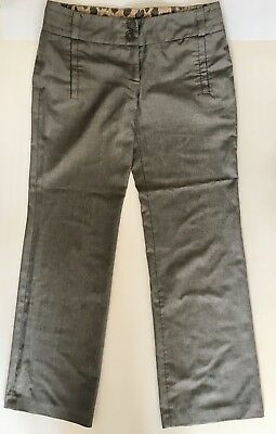 River Island Ladies Womens UK Size 10 Grey Trousers Straight Leg Regular Length