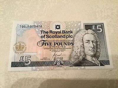 2002 Royal Bank of Scotland Golden Jubilee Five Pound Note £5.00 Uncirculated.