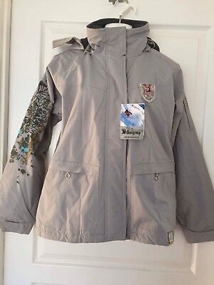 Brand New Water Resistant Ski Jacket UNISEX GREY COLOUR WOMENS AND MENS
