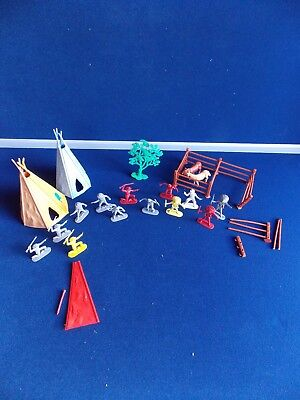 Timpo Toys Wigwams - Cowboys And Indians - Vintage Toys