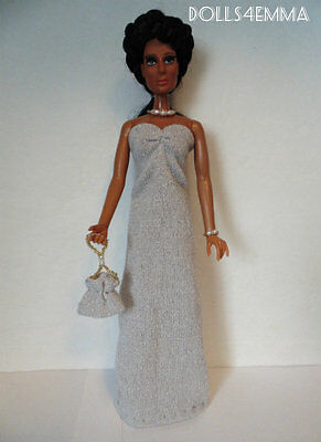 Mego CHER Doll Clothes HM Shimmery GOWN PURSE & JEWELRY Fashion NO DOLL d4e