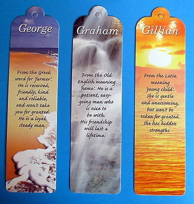 PERSONALISED NAMED BOOKMARKS (NAME DESCRIPTION) INITIALS (K to W)