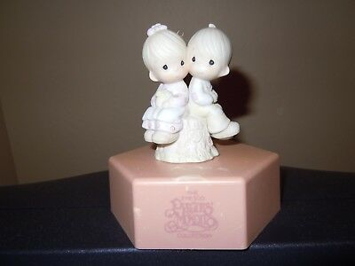 PRECIOUS MOMENTS 522929 Love One Another Porcelain Figurine Ornament Bow & Arrow