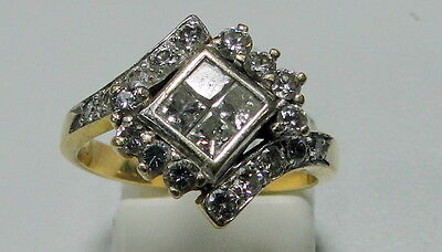 vintage 18 ct solid gold diamond ring handmade