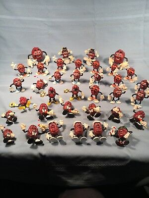 Vintage 80s California Raisins Band Dancers  Toys Applause Lot of 38 *132