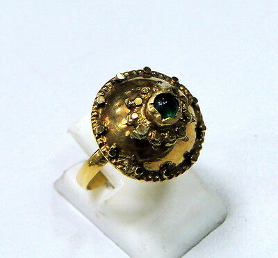 Vintage antique 20 K gold  Emerald Ring 427