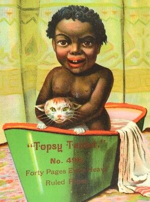 1880's Black Americana Topsy Tablet No. 498 Victorian Trade Card Or Cover &F