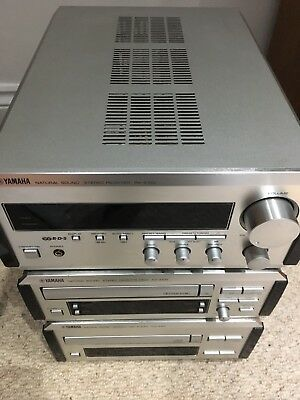 Yamaha Rx E-100 Receiver KX E-100 Cassette CDX E-100 Pianocraft With Remote E100