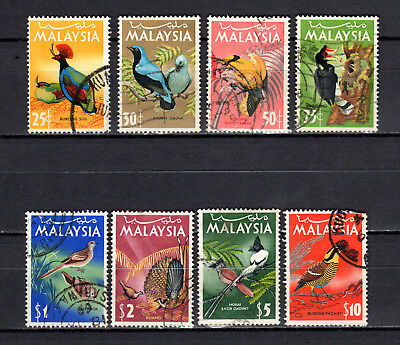 Malaya Malaysia 1965 Straits Settlements Birds Full Set Of Used Stamps