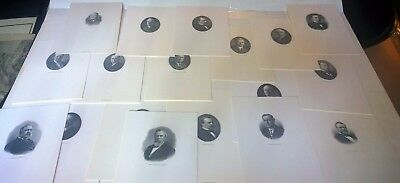U.S. PRESIDENTS Lot of 18 Bureau of Engraving and Printing Portraits