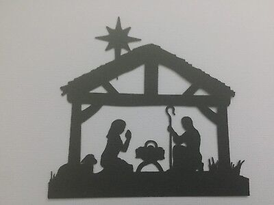 Scrapbooking Die Cuts 5 x Christmas Nativity Scene Die Cuts