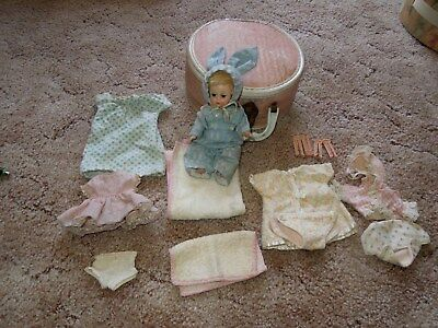 Vintage  MADAME ALEXANDER DOLL 1960 doll & Clothing and Accessories Lot