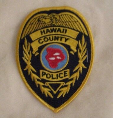 """Hawaii County Police Dept Patch - 3 1/4"""" x 4 3/8"""""""
