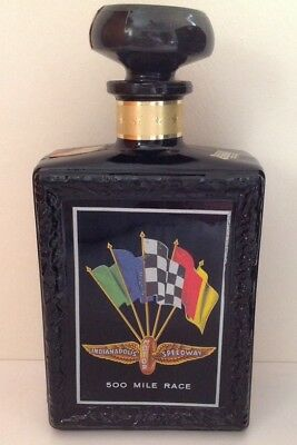 Indianapolis Motor Speedway 1969 J W Dant's Straight Whiskey Decanter Indy 500