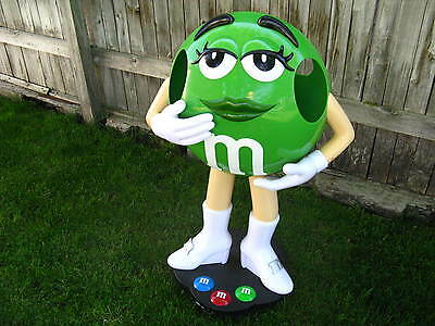Ms. Green M & M Candy Character Display on Wheels