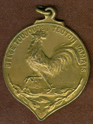 1918 Belgian Medal Issued for the Heroes of Verviers in World War I